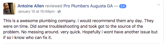 plumbing reviews augusta ga