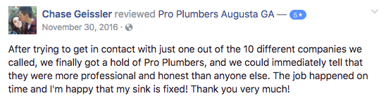 plumber reviews augusta ga